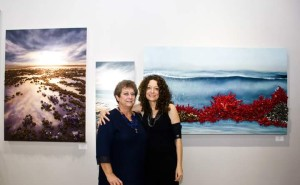 Artist; My mom and I at Adelman Fine Art Gallery. Two Generation Artists